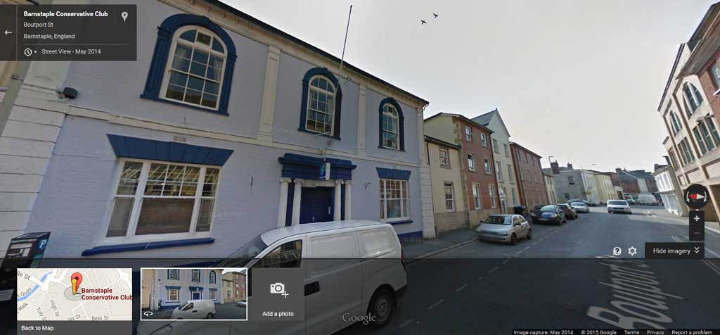 Barnstaple Conservative Club on Google maps